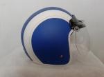 helm bogo biru putih polos