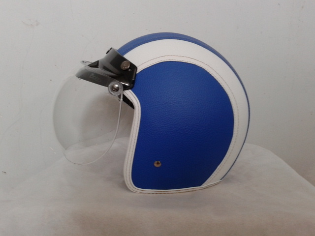 Galery Helm Bogo Kulit Biru Putih Polos Firman Personal Blog