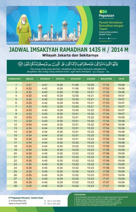 jadwal imsyak 2014