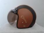 helm bogo kulit coklat hitam classic