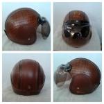 helm bogo coklat hitam