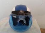 helm bogo biru putih classicl