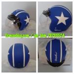 helm bogo kulit biru
