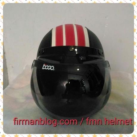 helm bogo hitam