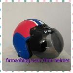 helm bogo biru merah