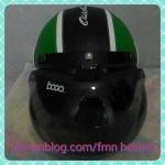 helm bogo retro hijau
