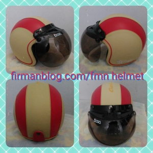 helm bogo cream merah
