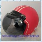 helm retro merah