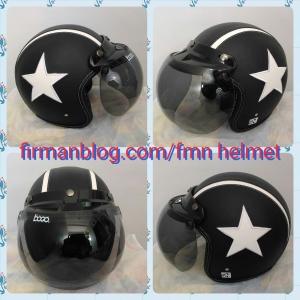 helm bogo hitam bintang