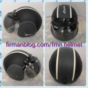 helm bogo abu abu hitam