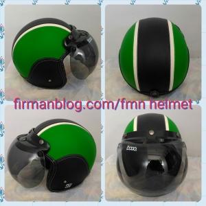 helm bogo hijau hitam