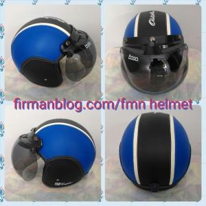 helm bogo biru hitam
